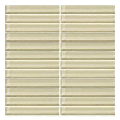 Daltile Color Wave Whipped Cream StraightJoint Mosaic CW0516MS1P