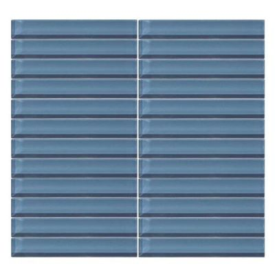 Daltile Color Wave Twilight Blue StraightJoint Mosaic CW1416MS1P