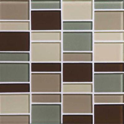Daltile Color Wave Sweet Escape Block Random Mosaic Gray/Black CW24BLRANDMS1P
