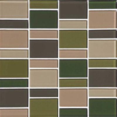 Daltile Color Wave Rain Forest Block Random Mosaic CW25BLRANDMS1P
