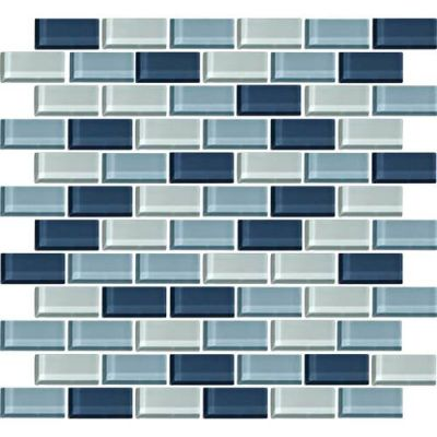 Daltile Color Wave Winter Blues BrickJoint Mosaic CW2721BJMS1P