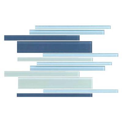 Daltile Color Wave Winter Blues Interlocking Mosaic Blue CW271214MS1P