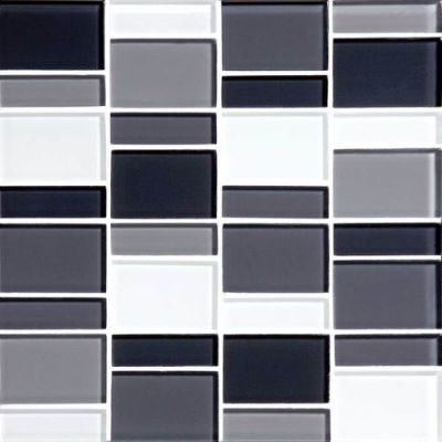 Daltile Color Wave Evening Mixer Block Random Mosaic Gray/Black CW28BLRANDMS1P