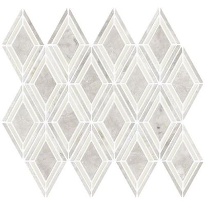 Daltile Stone Decorative Accents Argyle Blend White Mosaic White/Cream DA21ARGYLEMS1L