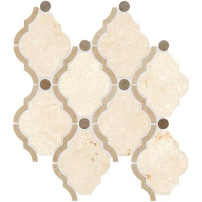 Daltile Stone Decorative Accents Latte Blend Framed Baroque Mosaic (Polished) DA25FRMBARQMS1L