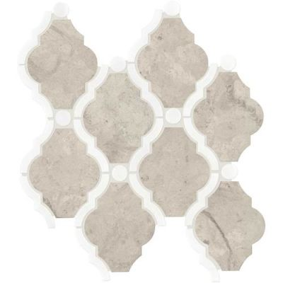 Daltile Stone Decorative Accents Volcanic Gray Blend Framed Baroque Mosaic (Honed) DA27FRMBARQMS1L