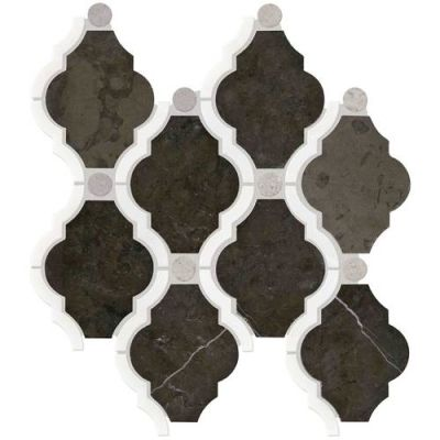 Daltile Stone Decorative Accents Antico Scuro Blend Framed Baroque Mosaic (Polished) DA28FRMBARQMS1L