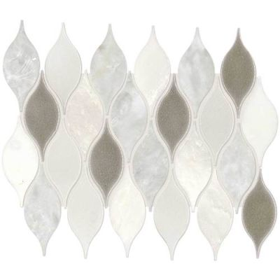 Daltile Stone Decorative Accents Lumia Leaf White Mosaic (Polished) DA29LUMIAMS1P