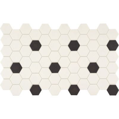 Daltile Keystones Hexagon White DK162HEXGMS1P