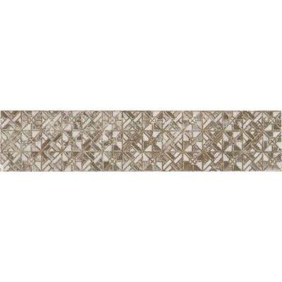 Daltile Exquisite 2 X 9 Wall/Floor Dark Decorative Accent Beige/Taupe EQ1529DECO1P