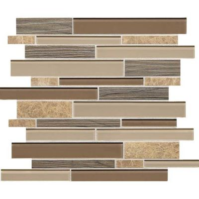 Daltile Idyllic Blends Sylvan Sunset Brown IB02LNRANSWATCH