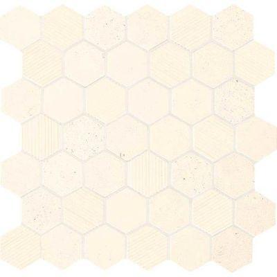 Daltile Limestone Collection Blavet Blanc Blend 2″ Hex L3402HEXMS1P
