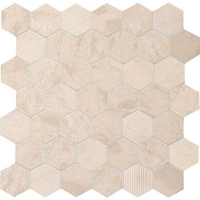 Daltile Limestone Collection Adour Creme Blend 2″ Hex L3412HEXMS1P