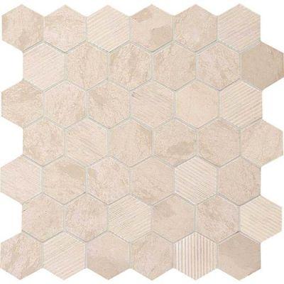 Daltile Limestone Collection Adour Creme Blend 2″ Hex L3412HEXMS1P