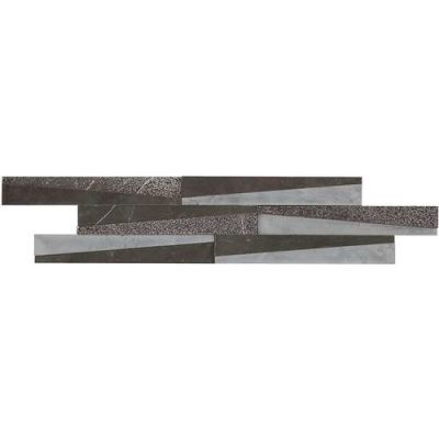 Daltile Marble Collection Antico Scuro Wedge Mosaic (Polished, Bush Hammered and Saw Cut) M049WEDGEMS1P