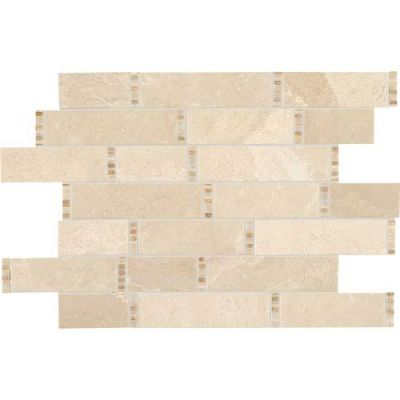 Daltile Marble Collection Meili Sand Random Linear Mosaic (Polished) M1061118RDMS1L