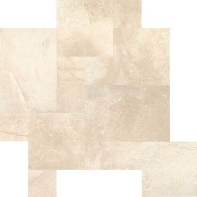 Daltile Marble Collection Phaedra Cream Versailles Pattern (Leather) M107PATTERN1N
