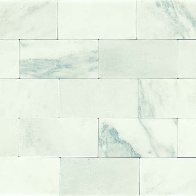 Daltile Marble Collection First Snow Elegance 3 x 6 Tumbled M19036TS1P