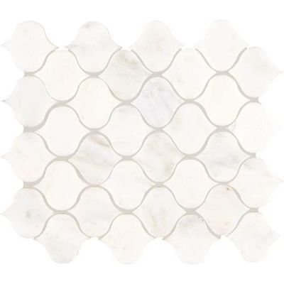 Daltile Marble Collection First Snow Elegance Lantern Mosaic (polished) White/Cream M190LANTMS1L