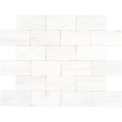 Daltile Marble Collection Contempo White (tumbled) White/Cream M31336TS1P