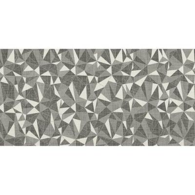 Daltile Fabric Art Modern Kaleidoscope White Ash Prism Gray/Black MK7112241PK