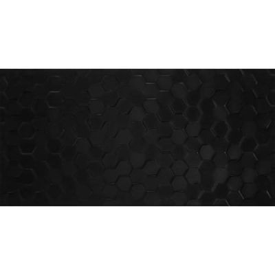 Daltile Multitude Domino Black Hexagon Gray/Black MU201224H1P2