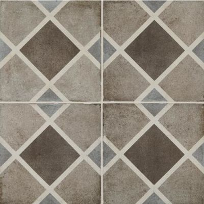 Daltile Quartetto Cool Rombo Gray/Black QU1788ROMBOSM1P