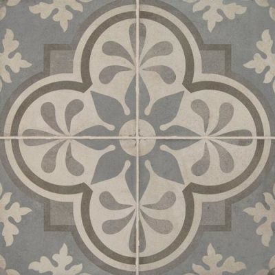 Daltile Quartetto Cool Grande Fiore Gray/Black QU2088GRANDSM1P