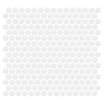 Daltile Retro Rounds Bold White Gloss RR0111PNYRDMS1P