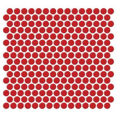 Daltile Retro Rounds Cherry Red Red/Orange RR0911PNYRDMS1P
