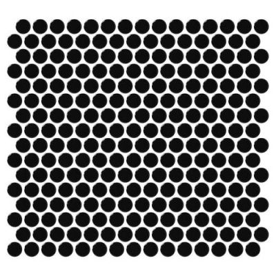 Daltile Retro Rounds Canvas Black Gloss RR1411PNYRDMS1P
