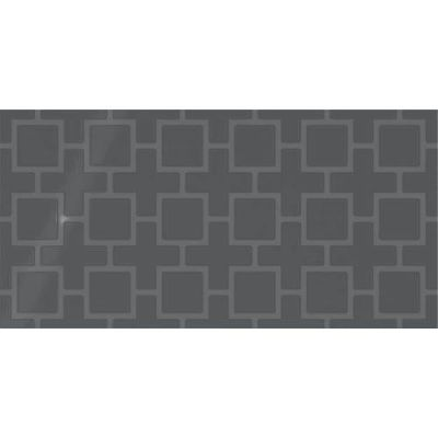 Daltile Showscape Deep Gray Square Lattice SH121224B1P2