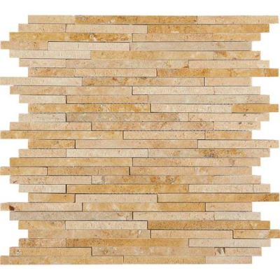 Daltile Travertine Collection Fossil Ridge Cross Cut 3/8xRandom (Polished, Honed, and SplitFace) T10238RANDMS1P
