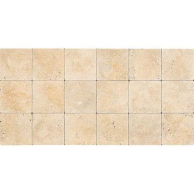 Daltile Travertine Collection Fossil Ridge Cross Cut 12×12 (honed And Tumbled) Beige/Taupe T10212121U