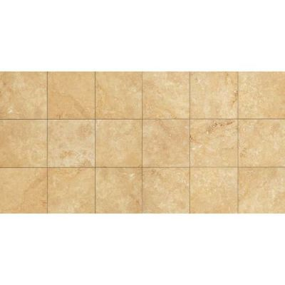 Daltile Travertine Collection Fossil Ridge Cross Cut 18×18 (honed And Tumbled) Beige/Taupe T10218181U