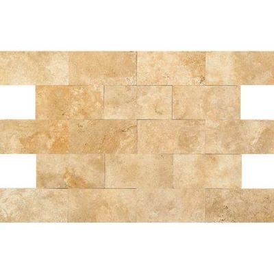 Daltile Travertine Collection Fossil Ridge Cross Cut 3×6 (Polished) T102361L