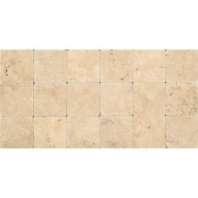 Daltile Travertine Collection Fossil Ridge Cross Cut 6×6 (tumbled) Beige/Taupe T10266TS1P
