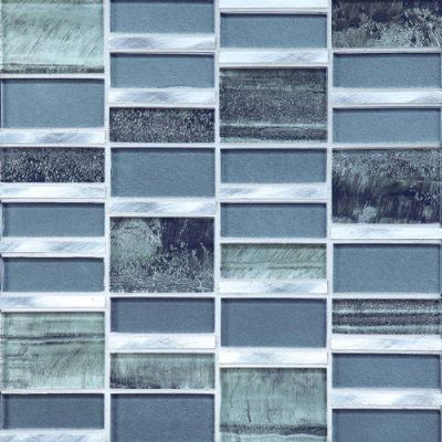 Daltile Tiger Eye Caspian Stainless Gray/Black TE29BLRANDMS1P