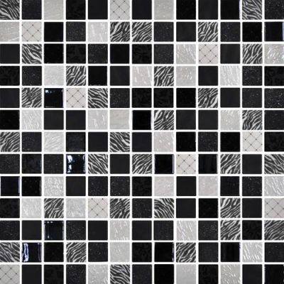 Daltile Uptown Glass Exotic Black Gray/Black UP1211MS1P
