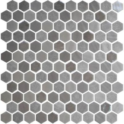 Daltile Uptown Glass Frost Moka UP181HEXMS1P