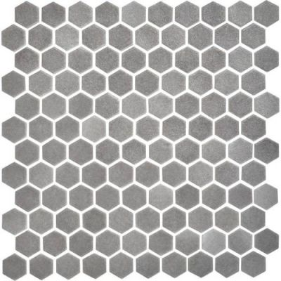 Daltile Uptown Glass Matte Frost Moka UP211HEXMS1P