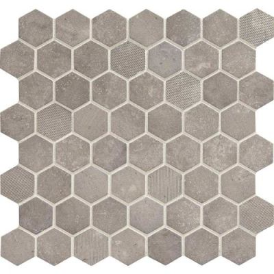 Daltile Vintage Hex Artifact Gray VH0715HEXSWATCH