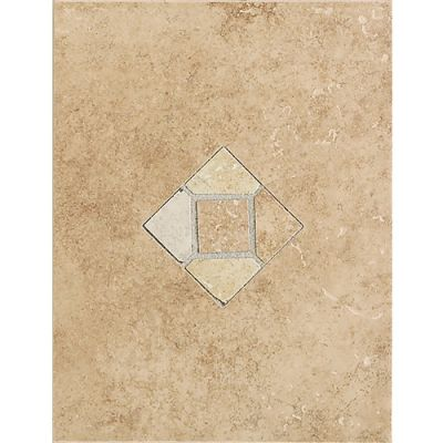 Daltile Brixton Mushroomwall Accent With Insert 9″ X 12″ Beige/Taupe BX03912DECO1P