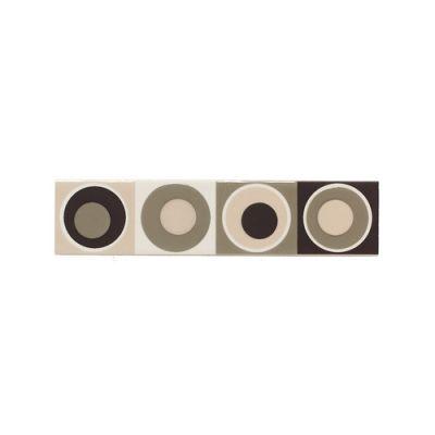 Daltile Modern Dimensions Multibrown Concentric Circles Accent 2″ X 8″ Gray/Black K06128DECO1P