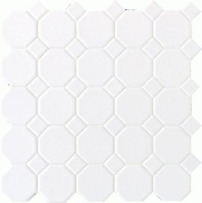 Daltile Octagon And Dot Matte White with 01 White Matte Dot 65012OCT01MS1P2