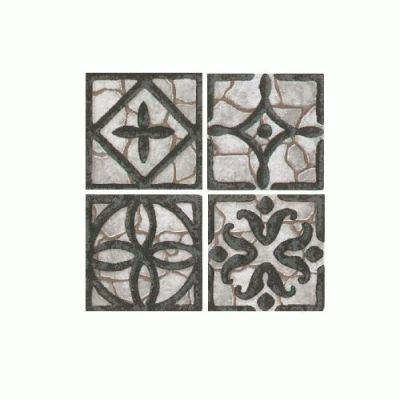 Daltile Fashion Accents Wrought Iron Grey Inserts 2″ x 2″ FA3322DOTS1P