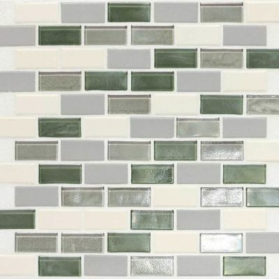 Daltile Coastal Keystones Caribbean Palm 2 X 1 Brickjoint Mosaic Green CK8721BJPM1P
