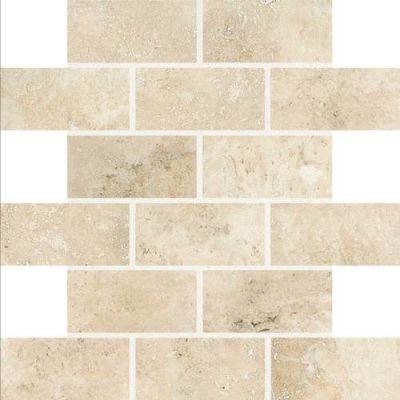 Daltile Esta Villa Terrace Beige 2 X 4 Mosaic Beige/Taupe EV9824BJMS1P2