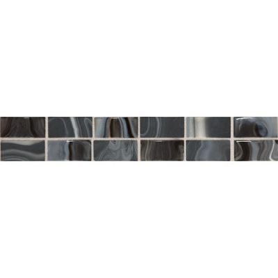Daltile Fashion Accents Black 2 x 12 Convex Swirl F005212DECO1P