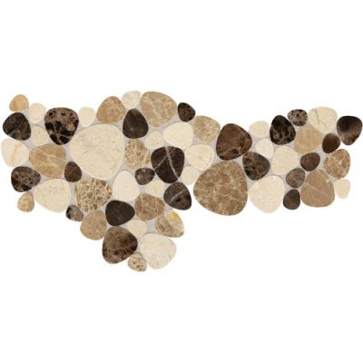 Daltile Fashion Accents Brown Pebble 12 x 12 Decorative Accent F0181212MS1P